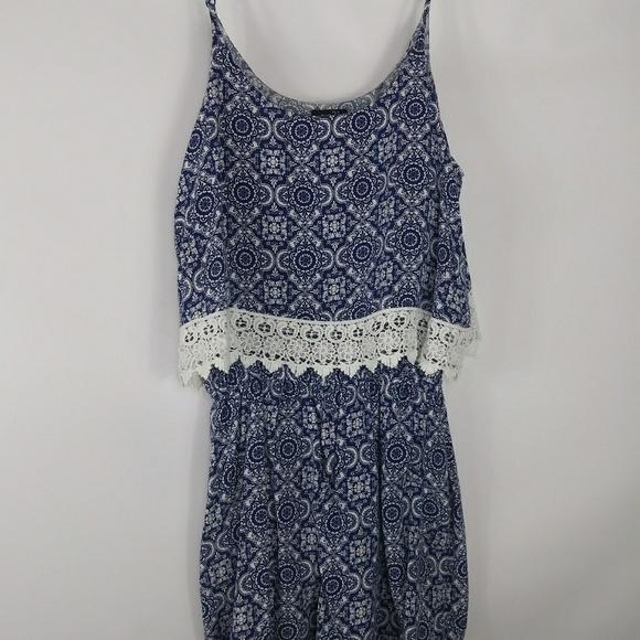 4eb9d7184fc Rue21 Pants - Rue 21 Blue   white Romper.Size Medium.